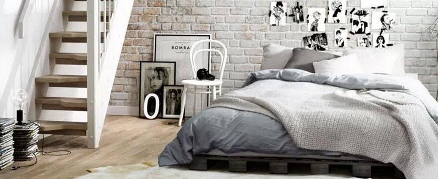Спальня в стиле лофт: грубая отделка для теплых отношений