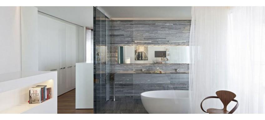Скелеты на бетонном полу: как сделать ванную в стиле лофт